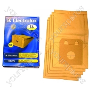 Electrolux Vacuum Cleaner Paper Dust Bags - Pack of 5 (E5N)