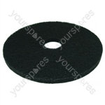 Black Floor Polisher Cleaning Scrubbing Pads 17 Inch Pack Of 5