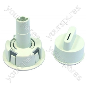 Bosch White Tumble Dryer Control Knob