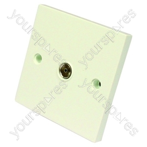 Tv Outlet Flush Single