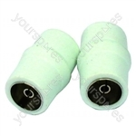 Coax Line Connectors Female Pack Of 2