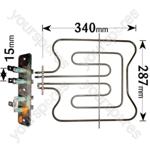 Indesit Dual Oven/Grill Element 1100w 1400w