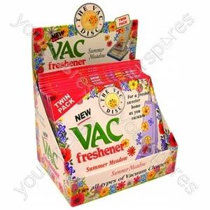 Vac Freshener Discs - Summer Meadow 24 X Twin Pack