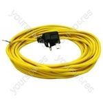 Flex 12 Metre 1.0mm 2 Core Yellow 13a