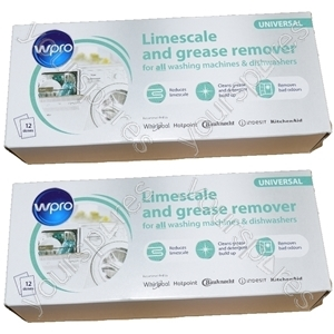 Limescale And Detergent Remover for Dishwashers and Washing Machines 24 pack