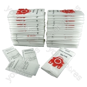 Miele Vacuum Bags, Type FJM (Red Tab) X 500 + Filters