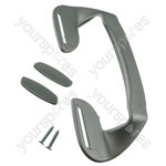 Zanussi Silver Plastic Fridge Freezer Door Grab Handle