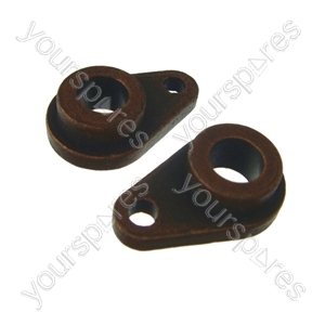 2 x Tumble Dryer Rear Drum Bearing Teardrop Shape Fits Hotpoint, Indesit, Ariston, Creda