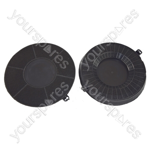 Elica Type 48 Carbon Charcoal Cooker Hood Filter Pack of 2