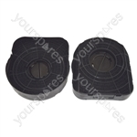 Electrolux CE900IX Elica Type 200 Carbon Charcoal Cooker Hood Filter Pack of 2