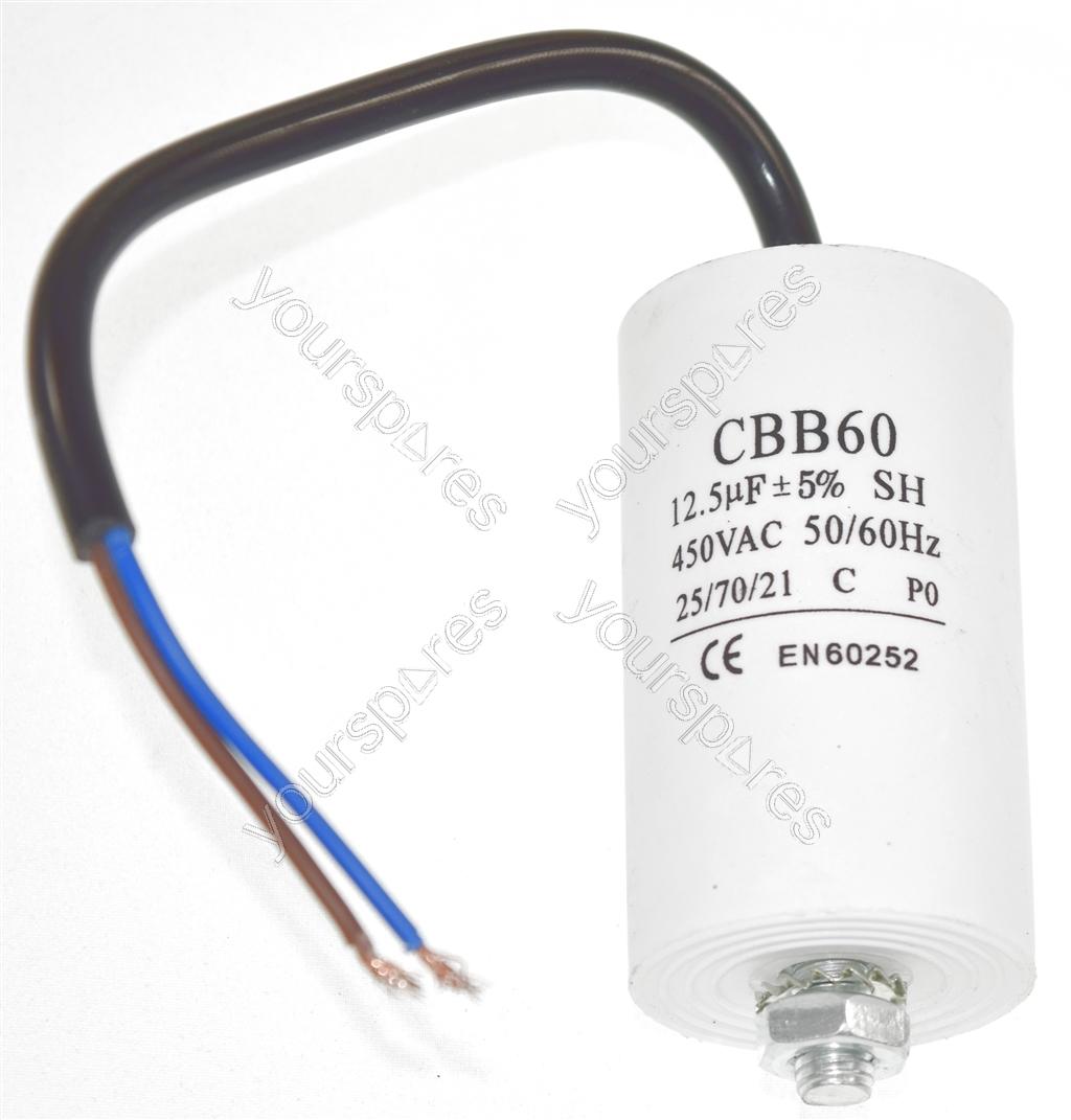 Universal 12.5 UF Microfarad Motor Run Start Capacitor With Cable