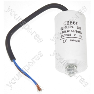 Universal 16UF Capacitor with 18cm Cable Connectors