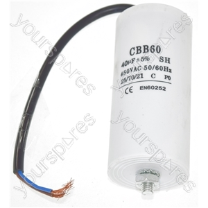 Universal 40UF Capacitor with 22cm Cable Connectors