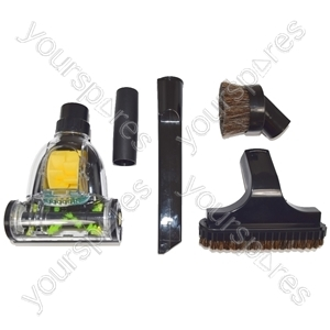 Vacuum Cleaner Mini Pet Hair Remover Turbo Brush Floor Tool and 4 Piece Tool Kit 32mm