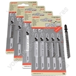 Jigsaw Blades T101BR For Down Cutting Laminates and Veneers High Carbon Steel HCS 20 Pack
