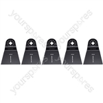 Multi Tool Blades 65mm Wide High Carbon Steel HCS For Wood And Plastic 5 Pack