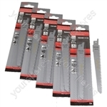Reciprocating Sabre Saw Blades R644D 150mm Long High Carbon Steel HCS 25 Pack