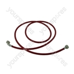 Zerowatt Universal Washing Machine Inlet Hot Fill Red Hose 2.5m Long