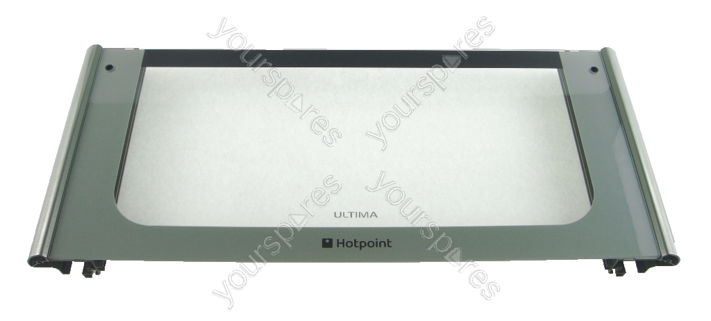 Hotpoint Hud61g Oven Door Glass Top Ultima Graphite C00281091 By Indesit