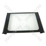 Oven Door Glass Main Ultima Black
