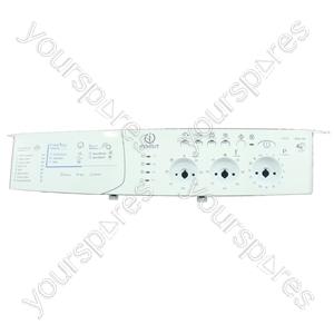 Indesit White Washing Machine Control Panel Faceplate