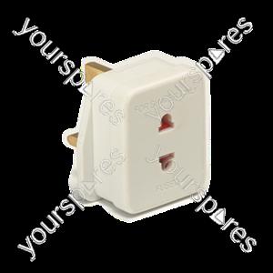 B1801 White Shaver Adaptor Socket