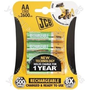 JCB Jcb Rx6/aa2650mah 4pk 10 Per Inner And 40 Per Outer