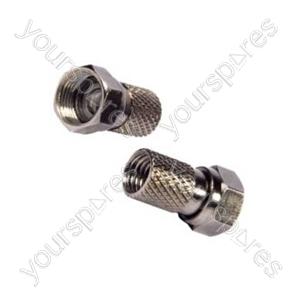 B417 Philex 'f' Connectors 2 X Twist On 'f' Plugs