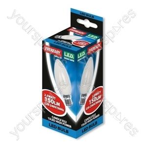 Eveready 2.5 Watt Led Candle Bc B22 Warm White
