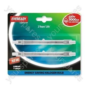 Eveready Energy Saver Halogen Lin Ear 230w(300w) 118mm Blister