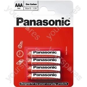 Panasonic AAA B4 Nonprice Zinc R03rz/4bp Eu