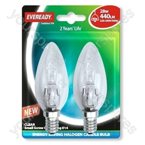 Eveready Ses Can (40w) 28w Clear E14 Blister Of 2