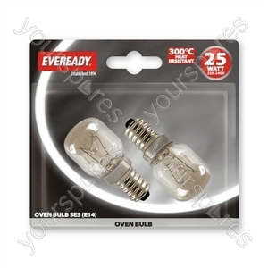 Eveready Oven Lamp 25w Ses Blx 2