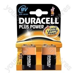 Duracell Plus Power 9v B2 019287