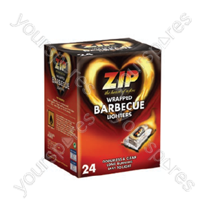 B1531 Zip Wrapped Bbq Lighters 24's