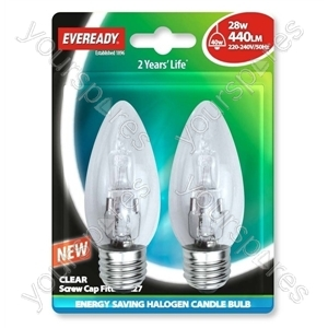 Eveready Es Can (40w) 28w Clear E27 Blister Of 2