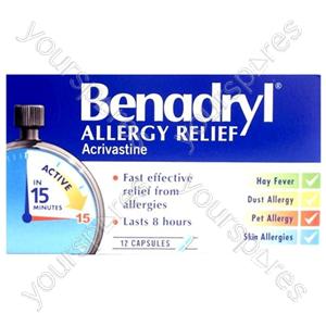 B847 Allergy Relief Benadryl 12 Tab