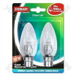 Eveready Bc Can (40w) 28w Clear Bcc Blister Of 2