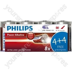 Philips D Power Alk 4+4free (lr20p8f/10)