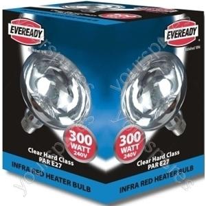 Eveready Heater Lamp 300w 1000hr Clear