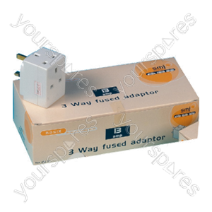 B105 3 Way Fused Adaptor (trade Pack X 10 Pcs)