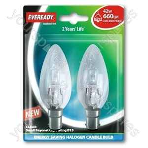 Eveready C35 Halogen Candle 42w