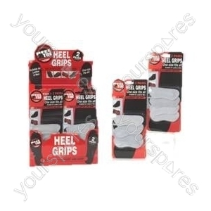 B24 2pairs Suede Heel Grips On Blister Card. 36pc Displa
