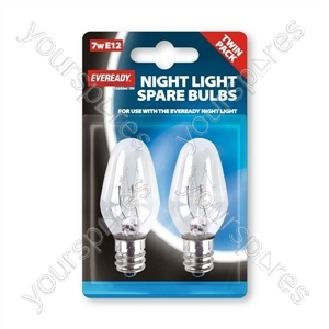 Eveready Night Bulb E12 7w Pack Of 2