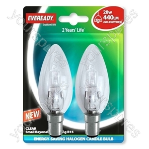 Eveready Sbc Can (40w) 28w Clear B15 Blister Of 2