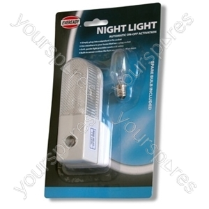 Auto Plug In Night Light 2x9208sb-clam (single+bulb)