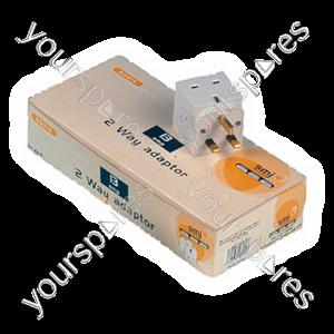 B114 2 Way Adaptor (trade Pack X 10 Pcs)