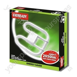 28w 4pin 240v Lamp Eveready Er2d28w4p Energy Saving Ever