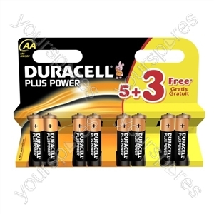 Duracell AA Plus Power 5+3 Free 018136
