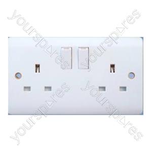 B445 2gang 13amp Switched Socket